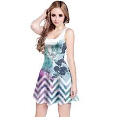 Colorful2 Floral Sleeveless Skater Dress