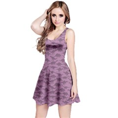 Violet A Pattern With Dinosaur Silhouettes Sleeveless Dress