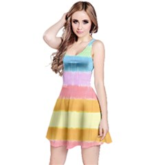 Rainbow Tie Dye Reversible Sleeveless Dress