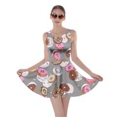 Gray Donut Skater Dress