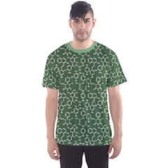 Green Organic Chemistry Pattern With Formulas Men s Sport Mesh Tee