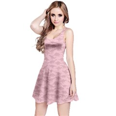 Light Pink A Pattern With Dinosaur Silhouettes Sleeveless Dress
