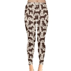 Black Dog Pattern Stok Animals Women s Leggings