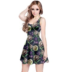Paeonia3 Floral Sleeveless Skater Dress