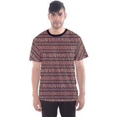 Black African Style Pattern With Animals Skins Men s Sport Mesh Tee