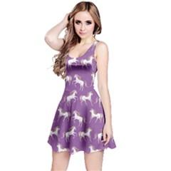 Violet Unicorn Seamless Sleeveless Skater Dress