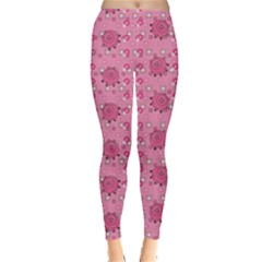Pink Pattern With Cute Pigs Women s Leggings