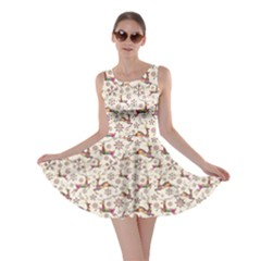 Colorful Christmas Vintage Retro Style Pattern Skater Dress