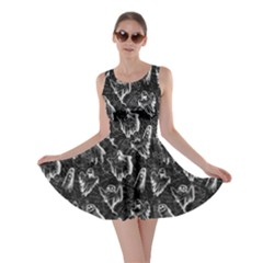 Black Ghost Halloween Skater Dress