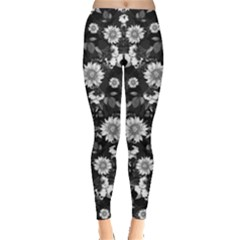 Black & White2 Floral Leggings