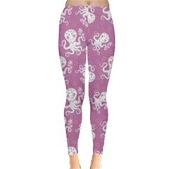 Purple Cute Octopus Stylish Design Leggings