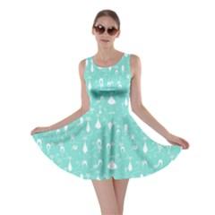 Mint Lovely Cats Pattern Skater Dress