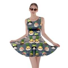 Fruit  Cat Dark Skater Dress