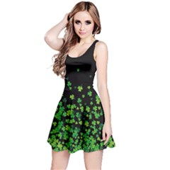 Shamrock Falling Dark Reversible Sleeveless Dress