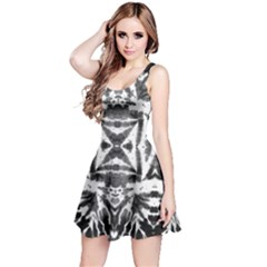 Black & White Tie Dye Reversible Sleeveless Dress