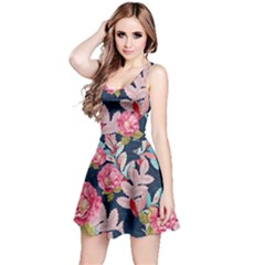 Pink Floral Sleeveless Dress