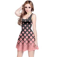 Nude Pink Gradient Rhombuses Reversible Sleeveless Dress