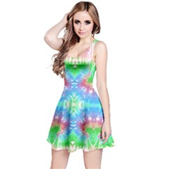 Green & Blue Tie Dye Reversible Sleeveless Dress