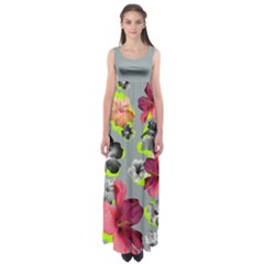 Gray Hawaii Empire Waist Maxi Dress
