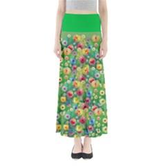 Colorful Garden 2 Maxi Skirt