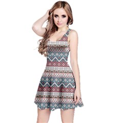 Colorful Colorful Navajo Pattern Reversible Sleeveless Dress