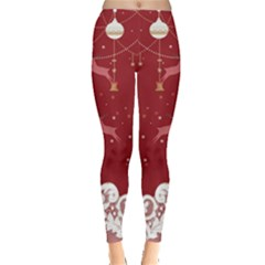 Red Xmas Leggings