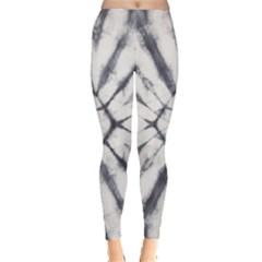 Gray Pattern Tie Dye Leggings