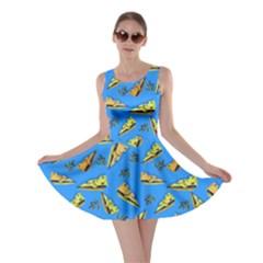 Blue Cheeze Skater Dress