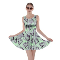 Mint Ghost Halloween Skater Dress