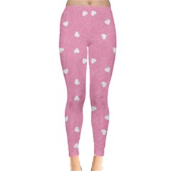 Pink Happy Valentines Day Pattern Template Leggings