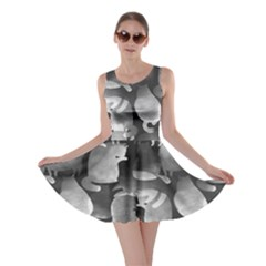 Cat Silhouettes Gray Skater Dress