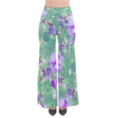 Lightgreenpaisley Chic Palazzo Pants