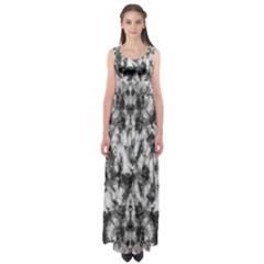 White Tie Dye 2 Empire Waist Maxi Dress