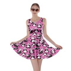 Pink Panda Skater Dress