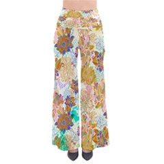 Yellowfloral Chic Palazzo Pants