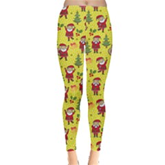 Yellow Santa Leggings