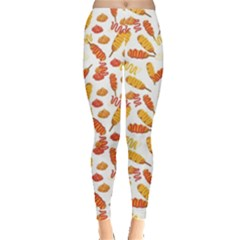 Colorful Corn Dog With Ketchup And Mustard Seamless Women s Leggings