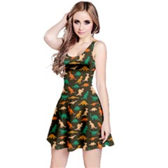 Dark Dinosaur Sleeveless Dress