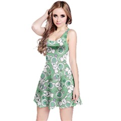 Mint Pattern Doddle Kawaii Sleeveless Skater Dress