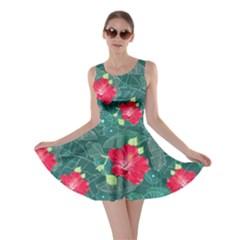 Teal Hawaii Skater Dress