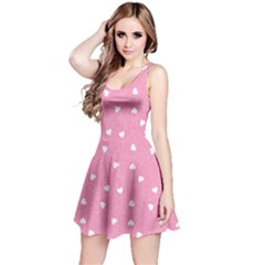 Pink Happy Valentines Day Pattern Template Sleeveless Dress