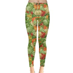 Green Vegetable Organic Food Mix with Cabbage Parsley Women s Leggings