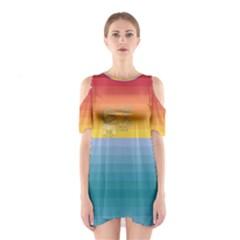 Rainbow Hawaii Women s Cutout Shoulder Dress