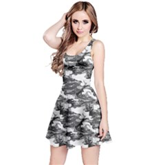 Gray 1 Camouflage Pattern Reversible Sleeveless Dress