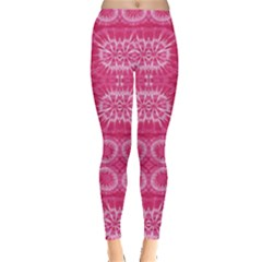 Hot Pink Pattern Tie Dye Leggings
