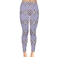Lavendar Tribal Aztec Leggings