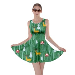Green Trees Skater Dress