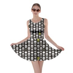 Black Alien Head Skater Dress
