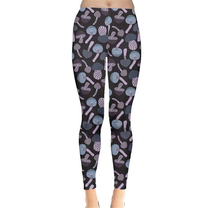 Purple Mushroom Pattern Stylish Design Leggings