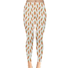 Orange Pattern Ripe Carrots Leggings